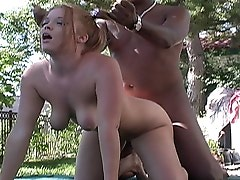 Deja is the girl next door. Well, that's if you live next door to a black cock hungry caucasian cutie that needs her daily fill of black pole. De