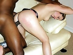 Fine assed blonde Nadia Sinn got heaps of intense interracial pounding in this clip. It all starts with Nadia guzzling a big black dick down her throa